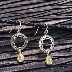 🌟RARE🌟SILPADA W2373 Sterling Brass & CZ Earrings